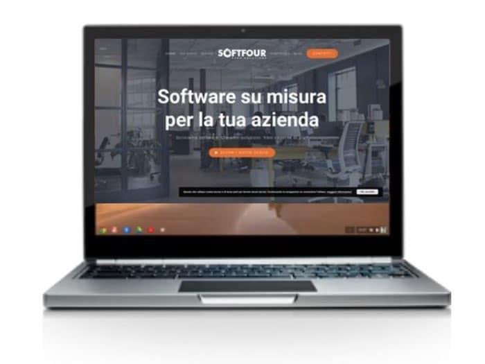 Nuovo sito softfour - schermata home