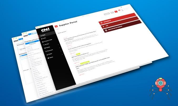 sviluppo crawler - integrazione con portale CNH Industrial - schermata dimostrativa