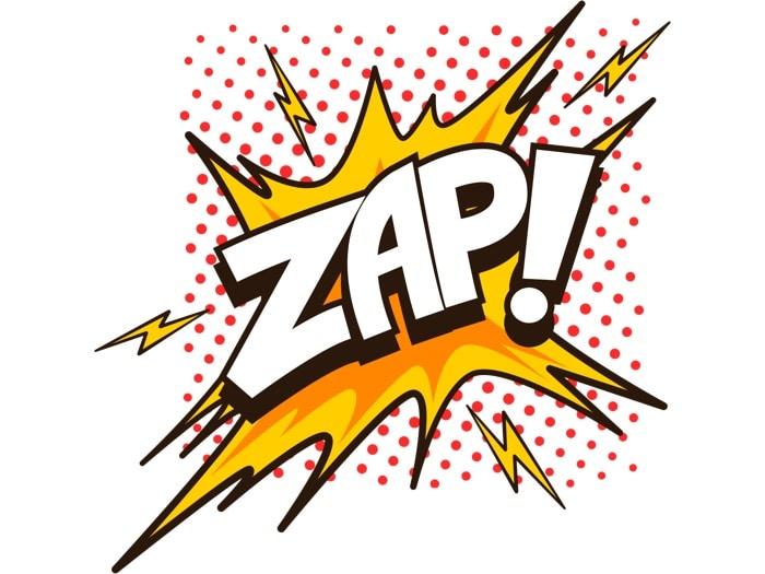 """scritta """"zap"""" - vantaggi e limiti dell'automation tool Zapier"""