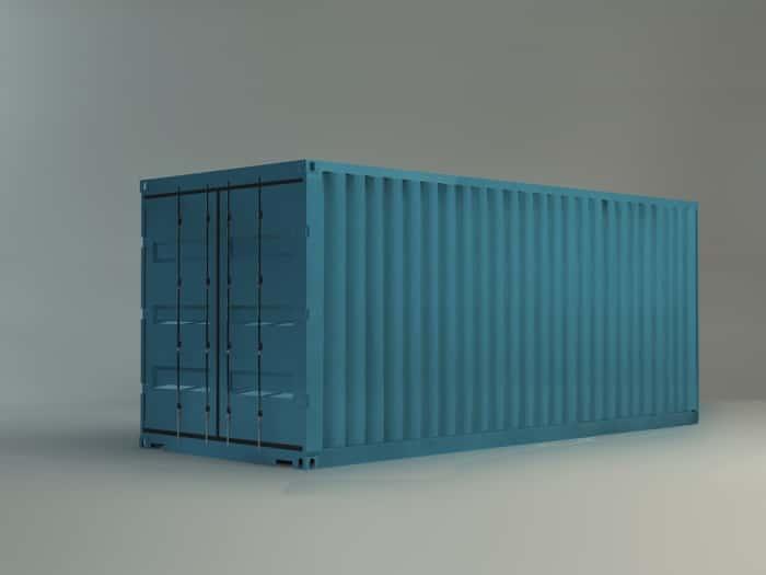 Immagine di un container blu - riferimento ai container nel mondo dello sviluppo software