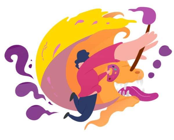 DiventaGiallo - tavolozza colori giallo, arancione, viola