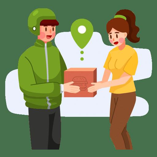 food delivery - rider che effettua la consegna