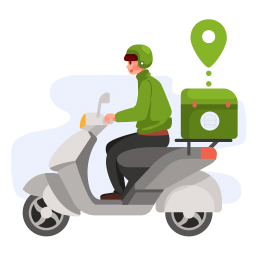 Food Delivery - rider con moto